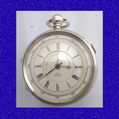 Coventry Silver Fusee Centre Sec's Marine Decimal Chronograph Pocket Watch 1891