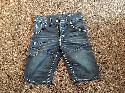 Fab Mens Jack & Jones Blue Denim Shorts Size Medium