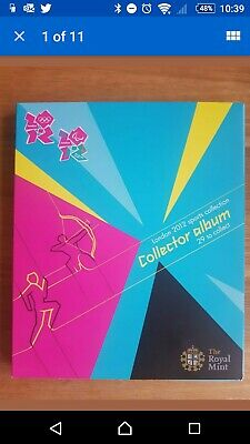 NO COINS 2012 London Olympic Games 50p Sports Collection Empty Album