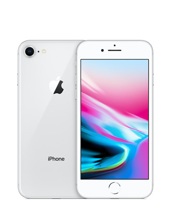 Apple iPhone 8 - 64GB - Silver (Unlocked)  A1905  (GSM)  smartphone