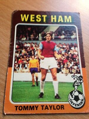B1 Topps Football Red 1977 Alan Taylor West Ham United No 271