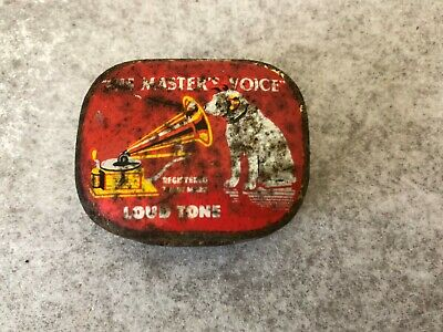Vintage Gramophone Needles His Masters Voice - Empty Tin