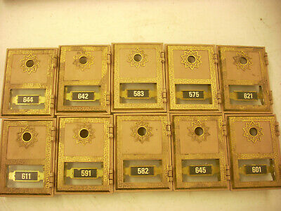 10-- # 1 Vintage Post Office Box Doors With out locks or keys ******Lot 7