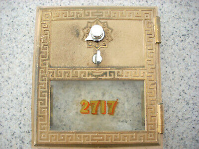 1961 Vintage Post Office Box Door #2717 Combination  by Federal lock co size # 2