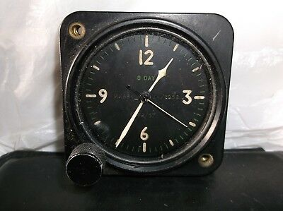 ww2 usaaf p51mustang clock working but needs clean not keeping good time