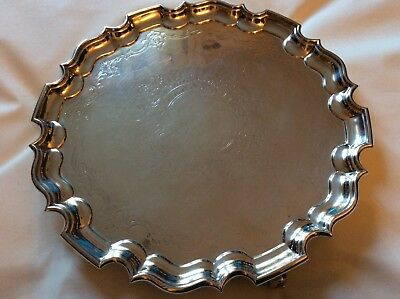 Stunning Solid Silver Salver London 1895,1300 Grams