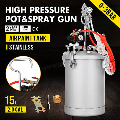 4 Gallon 2.0mm High Pressure Pot Paint Sprayer Tank Commercial House Painting