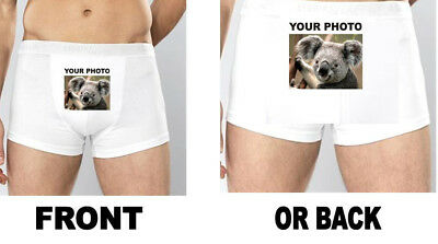 PHOTO Mens Boxer Shorts Underwear Pants stag boxers funny personalised stag joke