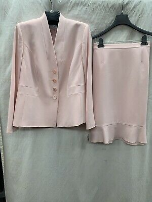 "Lesuit Skirt Suit/new With Tag/size 14W/lined/retail$200/inseam32""/peach"