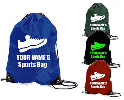 TRAINER gym bag SPORTS SCHOOL PE PERSONALISED boys SPORT FOOTBALL TRAINERS SHOES
