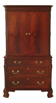 47188EC: HICKORY CHAIR CO Chippendale Style Mahogany Bedroom Armoire