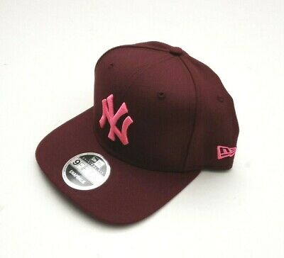 newest collection 69714 dd6ec New Era New York Yankees 9Fifty On Field Snapback Hat Maroon Pink OSFM