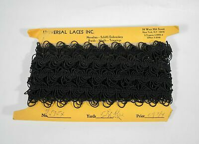 Vintage 20s Flapper Victorian Edwardian Black Beaded Look Gimp Braid Trim 5.4 yd