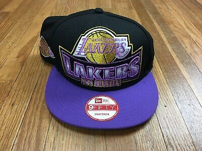 info for 31400 a64d4 New Era HWC Los Angeles Lakers Snapback Hat Big Logo Spell Out Adjustable  Cap
