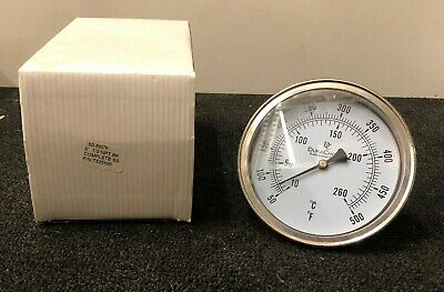 """Dura Choice Thermometer 50-500°F T525500 Stainless Steel 1/2"""" NPT"""