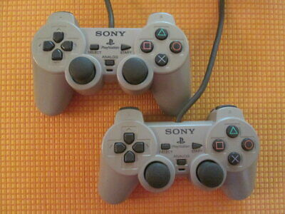coppia gamepad controller pad joystick dualshock sony ps1 playstation psx