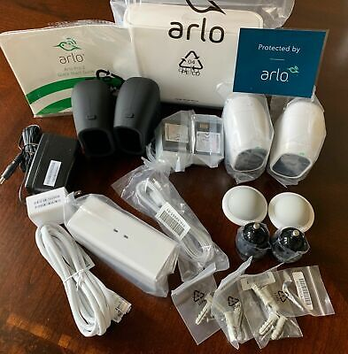 Arlo Pro 2 Complete Wireless Home Security 2 1080P Camera System Charge Station