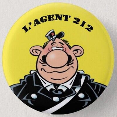 Pin Button Badge Ø38mm   ( L'AGENT 212 ) #1