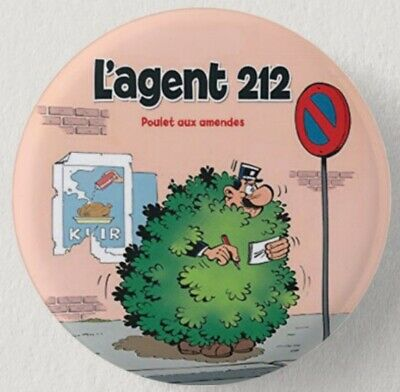 Pin Button Badge Ø38mm   ( L'AGENT 212 ) #2