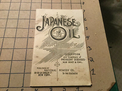 original vintage Early  booklet -- JAPANESE OIL hand book -- 34pgs - 1800's