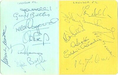 Chelsea F.C. signed autograph album pages 1970s English football team