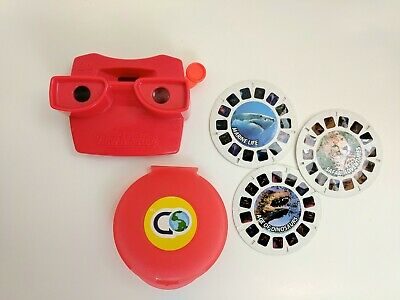 View Master 3D Viewer Red ClassicToy Slide with 3 Viewer Films in Case