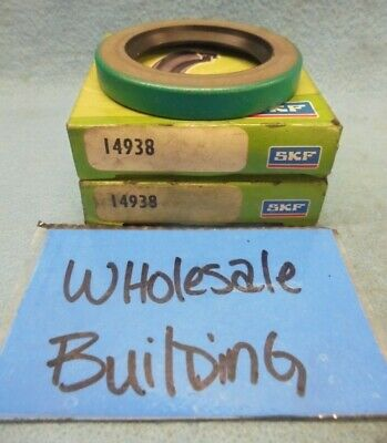 """Skf / Cr - Chicago Rawhide 14938  Oil Seal, 1.50"""" X 2.25"""" X 0.3125"""", Lot Of 2"""