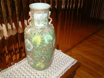 Rare Antique Chinese Famille Rose Vase Super Quality In Very Good Condition.