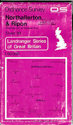 Ordnance Survey Landranger Map Sheet 99 Northallerton, Thirsk & Ripon 1979 OS