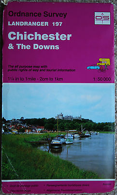 Ordnance Survey Landranger Map Sheet 197 Chichester & The Downs Littlehampton