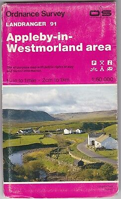 Ordnance Survey Landranger Map Sheet 91 Appleby-in-Westmorland Area OS 1982