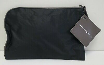 COLE HAAN American Airlines AMENITY KIT BLACK / GRAY zipper TOILETRY BAG New