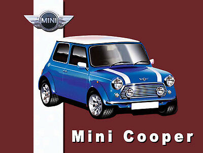 "Retro metal Sign//Plaque,Novelty Gift,Garage,Man Cave,Cars Mini Cooper /""S/"""