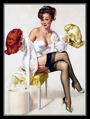 Sexy Pin Up Girl, Retro Vintage Metal Sign, Man Cave, Gift