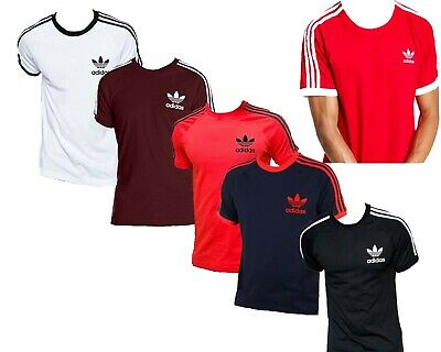 Mens Adidas California Trefoil Short Sleeve T-Shirt Cheapest Summer Sale SMLXL
