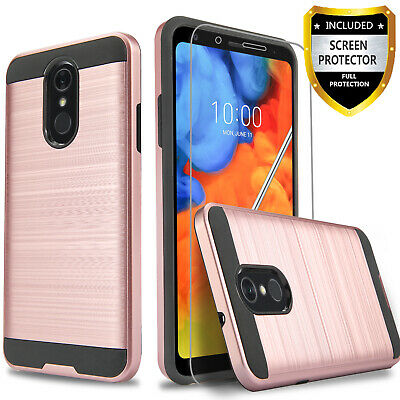 For LG Tribute Empire / Tribute Dynasty Phone Case + Tempered Glass Protector