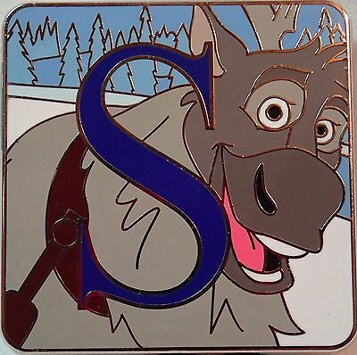 NEW 2015 Disney Parks Alphabet Mystery Trading Pin Letter S SVEN from Frozen