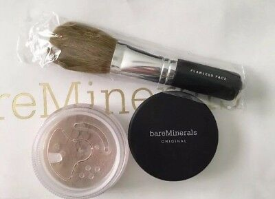 BareMinerals Original Foundation SPF15 Full Sz or Flawless Face Brush-You Pick!