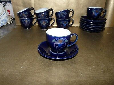 denby baroque small coffee / espresso cup and saucer
