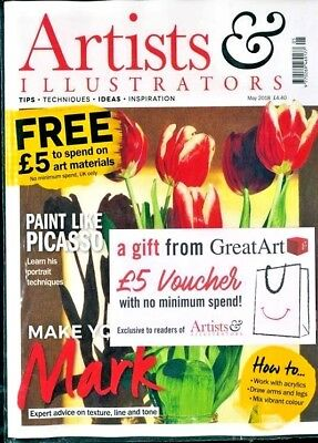 Artists & Illustrators Magazine May 2018 ~ New Sealed ~