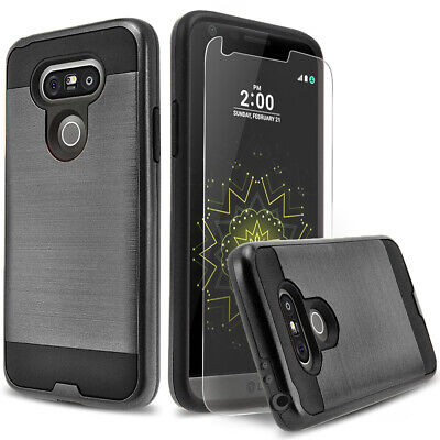 For LG G5 & LG G6 Phone Case, Shockproof Cover+Premium Screen Protector
