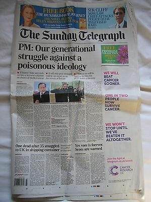 THE DAILY TELEGRAPH Aug 14 2014 Newspaper Lauren Bacall Obituary