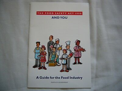 VINTAGE ORIGINAL THE FOOD SAFETY ACT 1990 AND YOU booklet Margaret Thatcher VGC