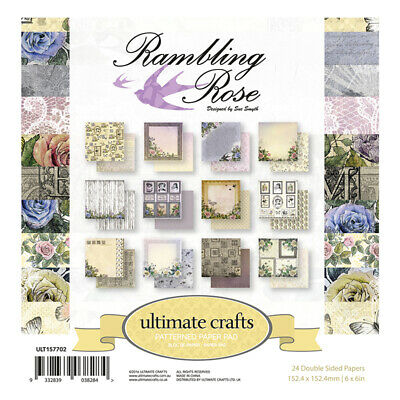 Ultimate Crafts 6x6 Paper Pad 24 Sheets - Rambling Rose