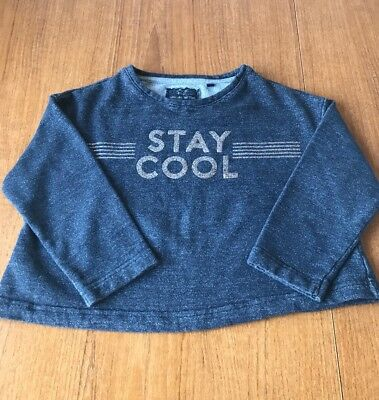 """Girls Next Navy Jumper Aged 6 Years """"STAY COOL"""" EC"""