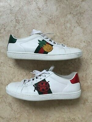 47498580b1a Gucci New Ace Pineapple-Embellished Leather Trainers Women s EUR 38 ...