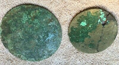 Two Celtic Bronze Mirrors 7th Century BC Eastern Europe Estate