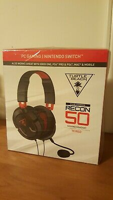 950b8ae9ce6 Turtle Beach Ear Force Recon 50 Red Gaming Headset for PS4, Switch, Xbox One