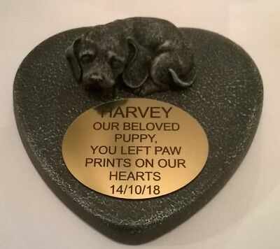 Dog Large Pet Memorial/headstone/stone/grave marker/memorial with plaque 22