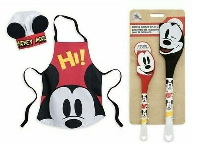 Disney Mickey Mouse  Apron and Chef Hat Set + Exclusive Baking Set - BNWT